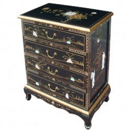 Chinese Black Chest of Drawers