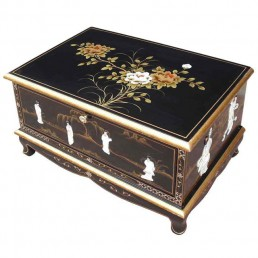 Chinese Furniture Black Lacquer Mother Of Pearl Classics