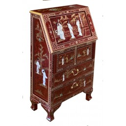 Chinese Red Lacquer Bureau