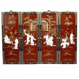 Chinese Red Lacquer Wall Hangings