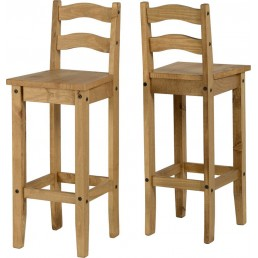 Onil Pine Bar Chair (PAIR)
