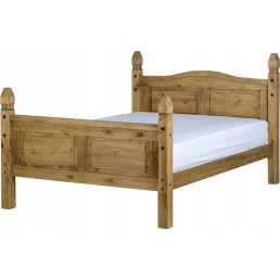 Onil Pine Bed High Foot End