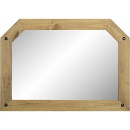 Onil Pine Over Mantle Mirror