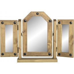 Onil Pine Triple Swivel Mirror