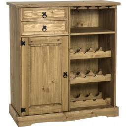 Onil Pine Sideboard/Wine Rack Unit