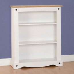 Onil White Low Bookcase