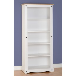 Onil White Tall Bookcase