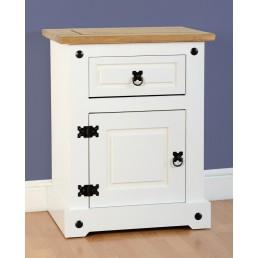 Onil White Bedside Cabinet