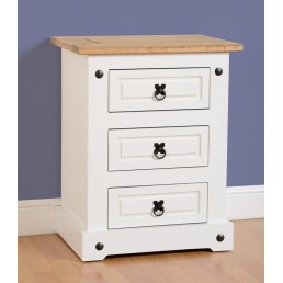 Onil White Bedside Chest