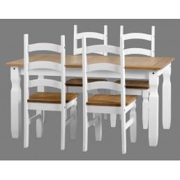 Onil White Dining Set