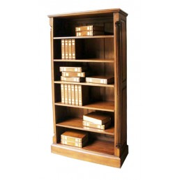 Pillar Mahogany Wide Bookcase