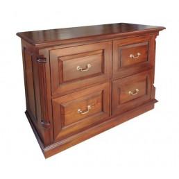 Pillar Mahogany Filing Cabinet 4D