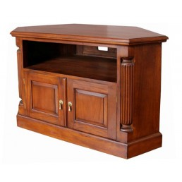 Pillar Mahogany Corner TV Unit