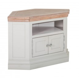 White Painted Corner TV Unit