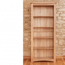 Serpentine Oak large bookcase