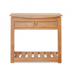 Serpentine Oak Console Table