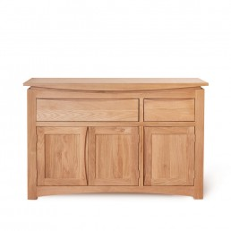 Serpentine Oak Large Sideboard