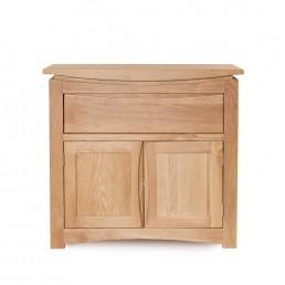 Serpentine Oak Small Sideboard