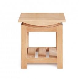 Serpentine Oak Lamp Table