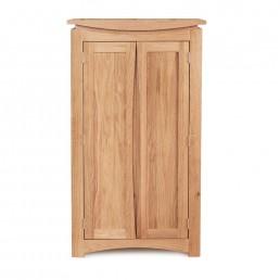 Serpentine Oak Shoe Cupboard