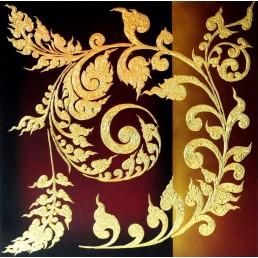 Thai Art Abstract Original Thai Pattern
