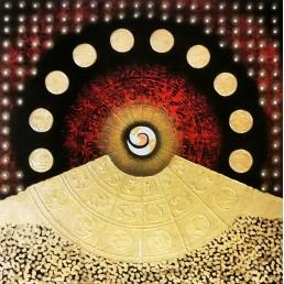 Thai Art Abstract Art Yantra Moon
