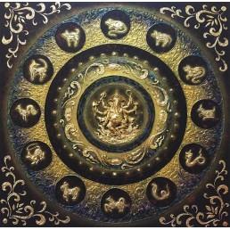 Thai Art Elephant Deity & Thai Zodiac