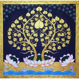 Thai Art Buddha Bodhi Tree