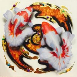 Thai Art Koi Fish Harmony