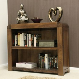 Art Deco Walnut Low Bookcase