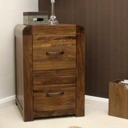 Shiro Walnut Filing Cabinet