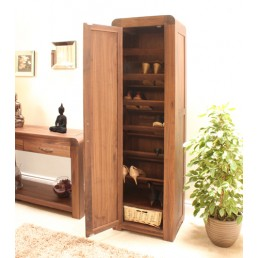 Art Deco Walnut Tall Shoe Cupboard