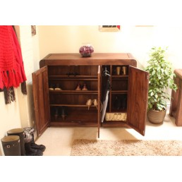 Art Deco Walnut Shoe Cupboard