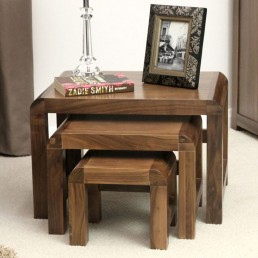 Art Deco Walnut Table Nest