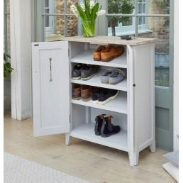 Grey Painted Shoe Cupboard
