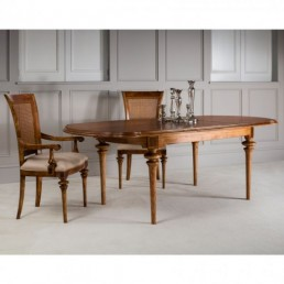 Spire Walnut Oval Extending Table