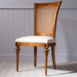Spire Walnut Cane Back Chair