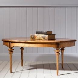 Spire Oval Walnut Coffee Table