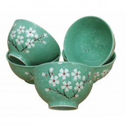 Chinese Bowl Set Turquoise Blossom