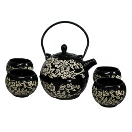 Chinese Black Round Teapot Set