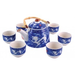 Chinese Double Dragon Tea Set