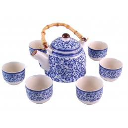 Chinese Leaves Teapot Set
