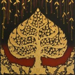 Thai Art - Phodhi Gold Tree 1