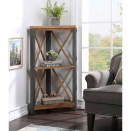 Reclaimed Small Corner Bookcase