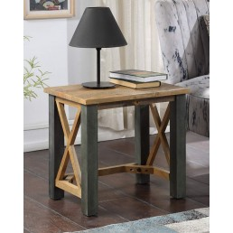 Reclaimed Lamp Table