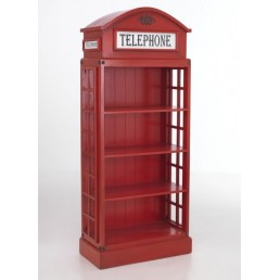 British Red Telephone Bookcase