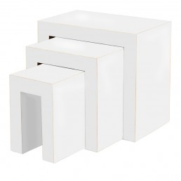 White Cube Table Nest