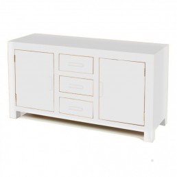 White Cube Large Oak Sideboard