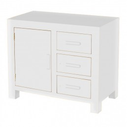 White Cube Small Oak Sideboard