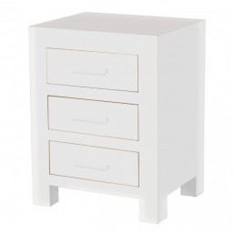 White Cube 3 Drawer Chest